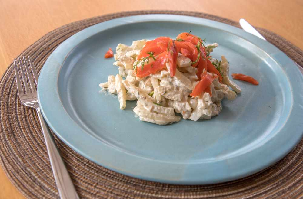 Rezept low carb Fenchel Lachs