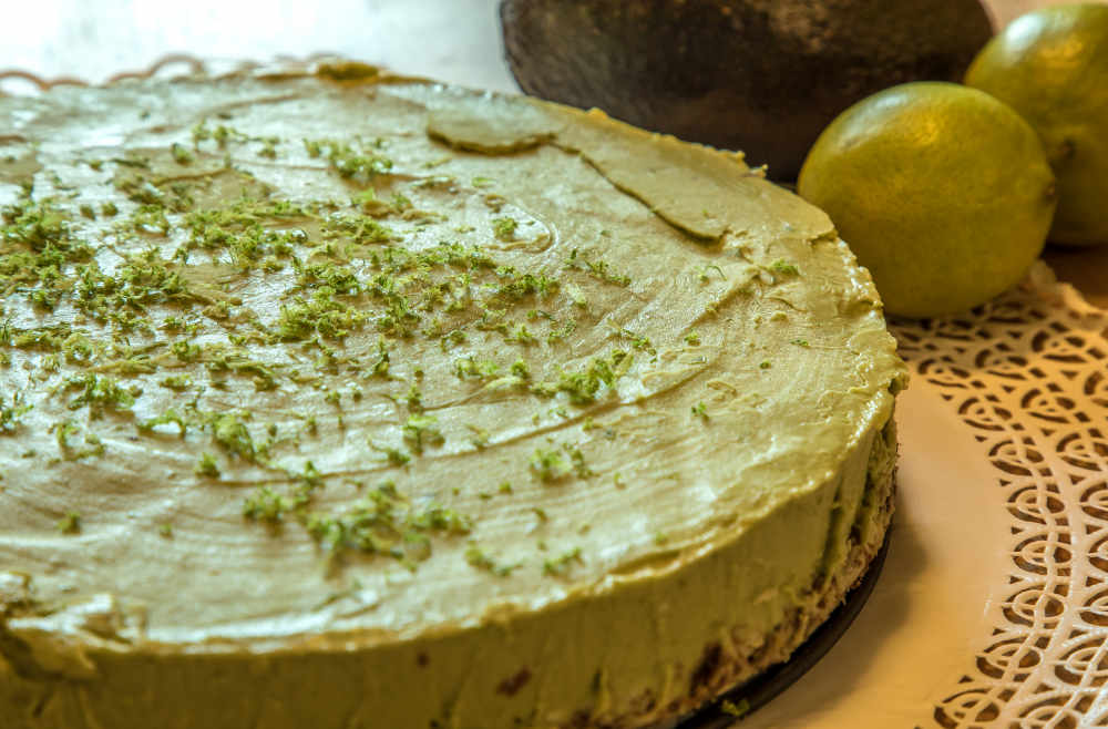 Avocado Limetten Tarte ohne Backen