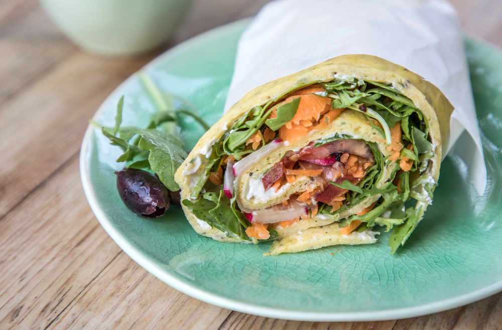 Low Carb Wrap Rucola Migräne LCHF