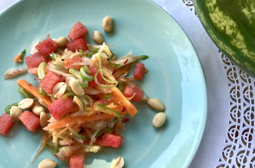 wassermelonenschale Salat migräne ernährungsoaching ernährungsberatung münchen anne Goldhammer-Michl avocadooo